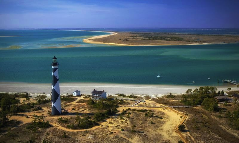 Best Beaches North Carolina Map